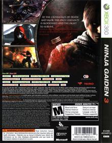 Ninja Gaiden 3 - Box - Back