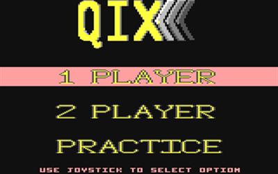 Qix - Screenshot - Game Select