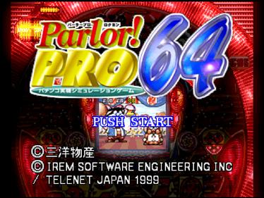 Parlor! Pro 64: Pachinko Jikki Simulation Game - Screenshot - Game Title
