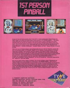 1st Person Pinball - Box - Back