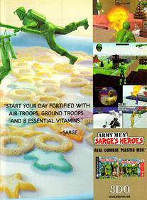 Army Men: Sarge's Heroes - Advertisement Flyer - Back