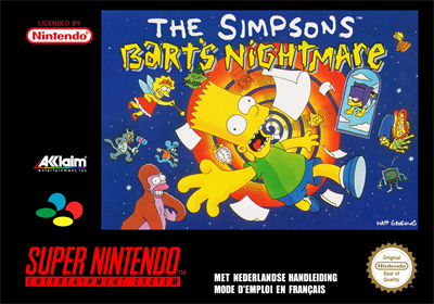 The Simpsons: Bart's Nightmare - Box - Front