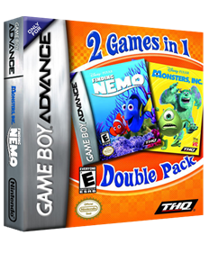 2 Games in 1: Monsters, Inc. + Finding Nemo - Box - 3D