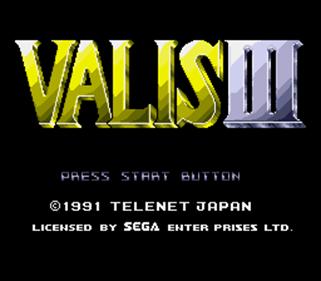 Valis III - Screenshot - Game Title