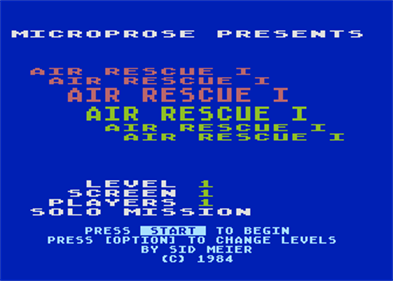 Air Rescue - Screenshot - Game Title