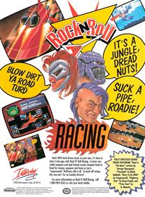 Rock n' Roll Racing - Advertisement Flyer - Front