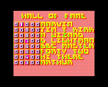 Breakthrough  - Screenshot - High Scores