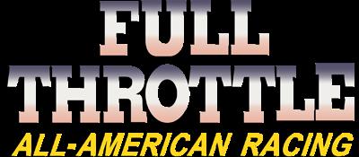 Full Throttle: All-American Racing - Clear Logo