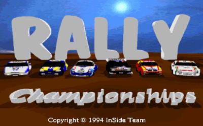 Rally Championships - Screenshot - Game Title