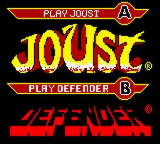 Arcade Hits: Joust & Defender - Screenshot - Game Title