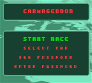 Carmageddon - Screenshot - Game Select