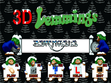 3D Lemmings Winterland - Screenshot - Game Select