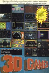 30 Games - Advertisement Flyer - Front