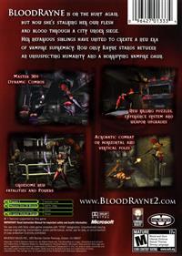 BloodRayne 2 - Box - Back
