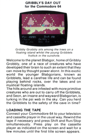 Gribbly's Day Out - Box - Back