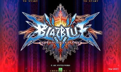 BlazBlue: Chrono Phantasma - Screenshot - Game Title
