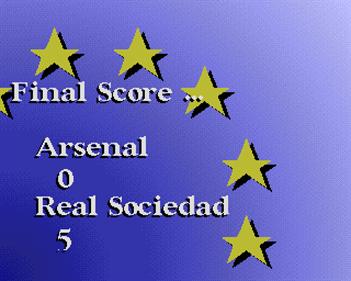 Euro Soccer - Screenshot - Game Over