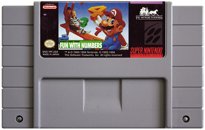 Mario's Early Years: Fun with Numbers - Fanart - Cart - Front