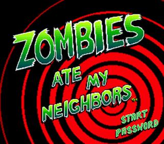 Zombies Ate My Neighbors - Screenshot - Game Title
