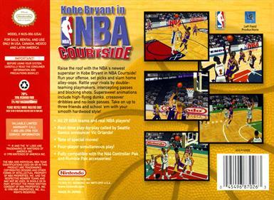 Kobe Bryant in NBA Courtside - Box - Back