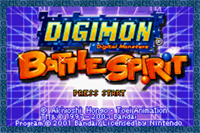 Digimon Battle Spirit - Screenshot - Game Title
