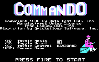 Commando - Screenshot - Game Title