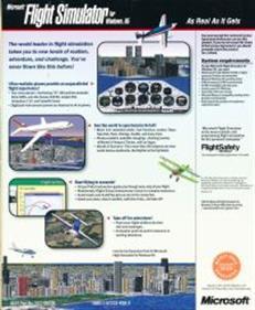 Microsoft Flight Simulator for Windows 95 - Box - Back
