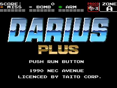 Darius Plus - Screenshot - Game Title