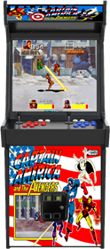 Captain America and the Avengers - Arcade - Cabinet