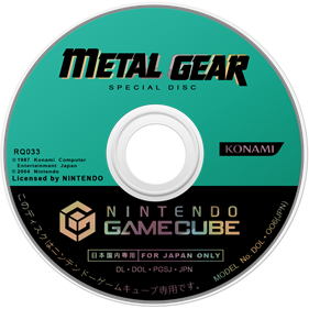 Metal Gear Solid: The Twin Snakes - Disc