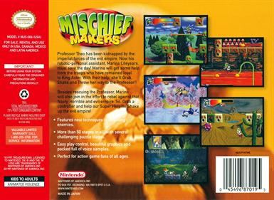 Mischief Makers - Box - Back