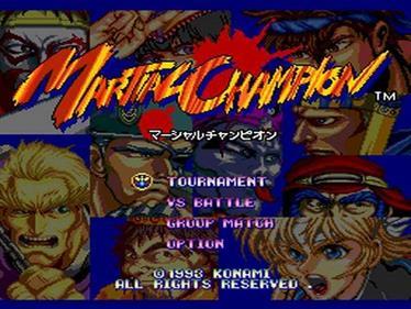 Martial Champion - Screenshot - Game Select