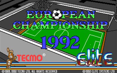 European Championship 1992 - Screenshot - Game Title