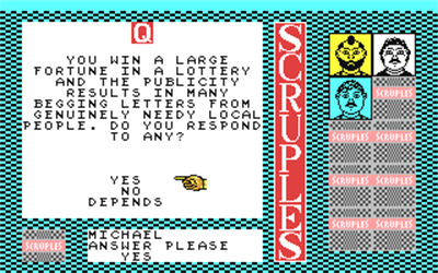 A Question of Scruples: The Computer Edition - Screenshot - Gameplay