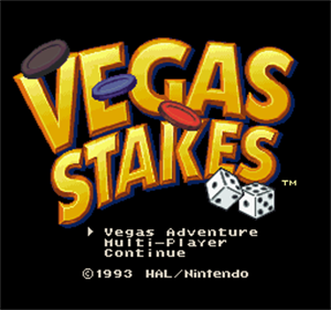 Vegas Stakes - Screenshot - Game Title