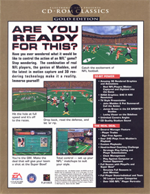 Madden NFL Football: Limited Edition  - Box - Back