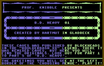 Boulder Dash Heavy 01 - Screenshot - Game Title