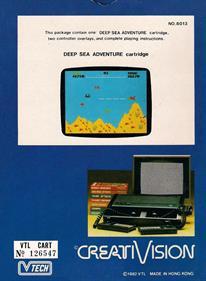 Deep Sea Adventure - Box - Back