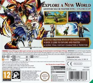 Final Fantasy: Explorers - Box - Back