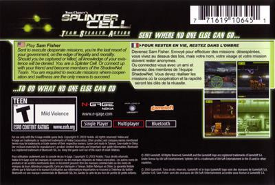 Tom Clancy's Splinter Cell: Team Stealth Action  - Box - Back