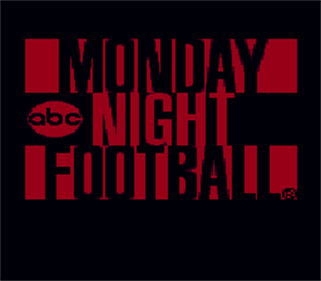 ABC Monday Night Football - Screenshot - Game Title