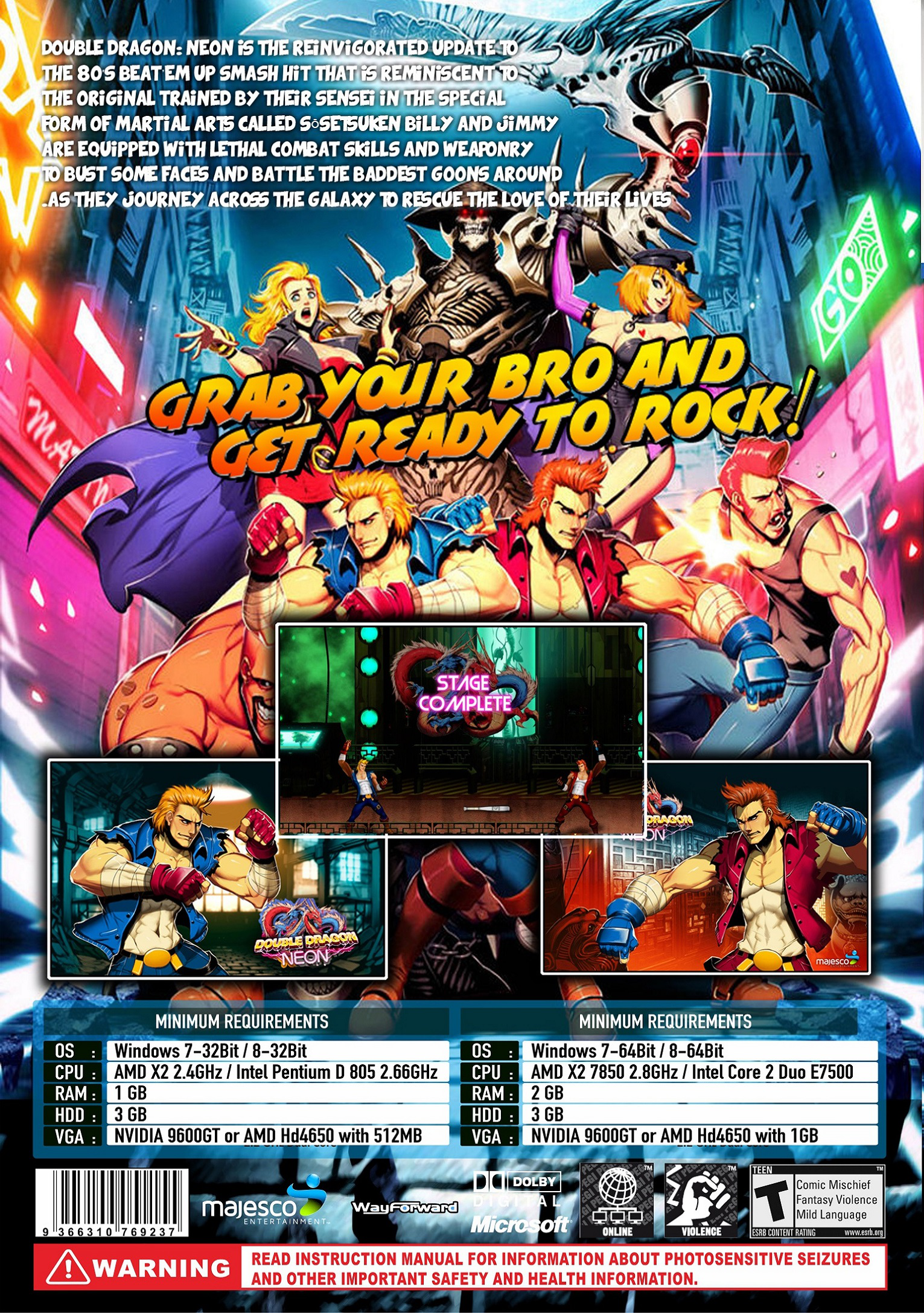 Double Dragon Neon Details Launchbox Games Database