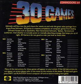 30 Games - Box - Back