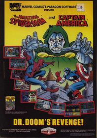 The Amazing Spider-Man and Captain America in Dr. Doom's Revenge! - Advertisement Flyer - Front