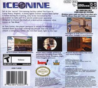 Ice Nine - Box - Back