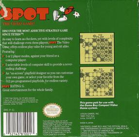Spot: The Video Game - Box - Back