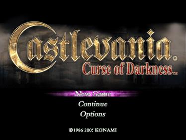 Castlevania: Curse of Darkness - Screenshot - Game Title