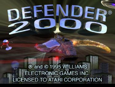 Defender 2000 - Screenshot - Game Title