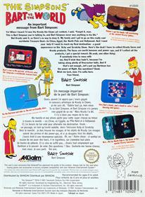 The Simpsons: Bart vs. the World - Box - Back