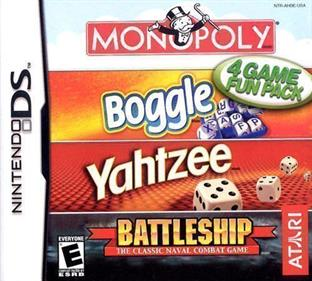 4 Game Fun Pack: Monopoly + Boggle + Yahtzee + Battleship